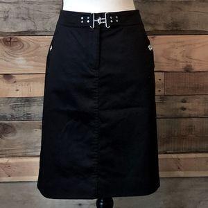White House Black Market Black and Metal Skirt